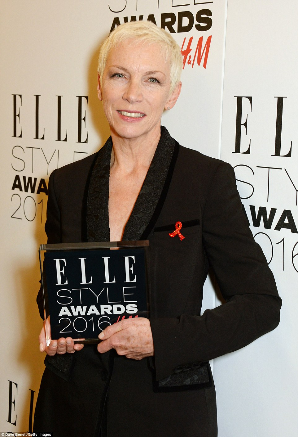 Class act: Singer and philanthropist Annie Lennox was feted with the Outstanding Achievement trophy