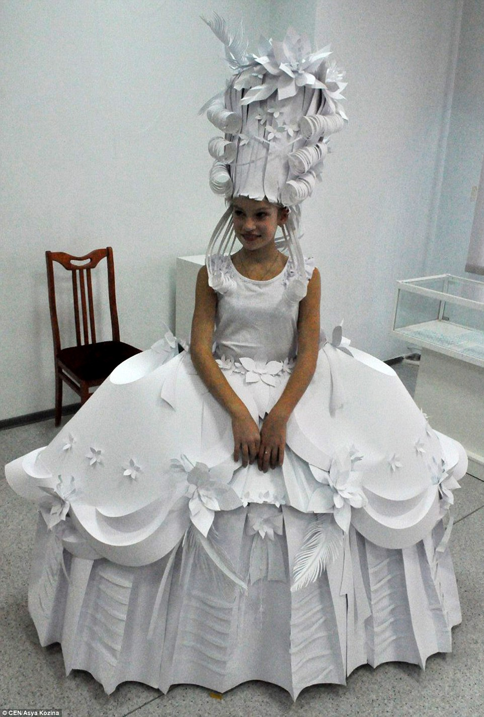 Russian designer Asya Kozina crafts wedding dresses out of paper  Daily Mail Online