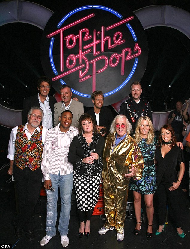 Heinous crimes: Savile molested 72 victims at the BBC and was still abusing women in 2006 when the corporation brought him back to host the last ever Top of the Pops aged 79 (pictured after the final show)