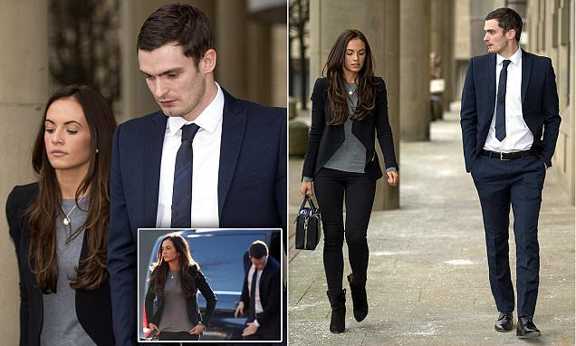Adam Johnson's girlfriend Stacey Flounders say they've SPLIT at his child sex trial