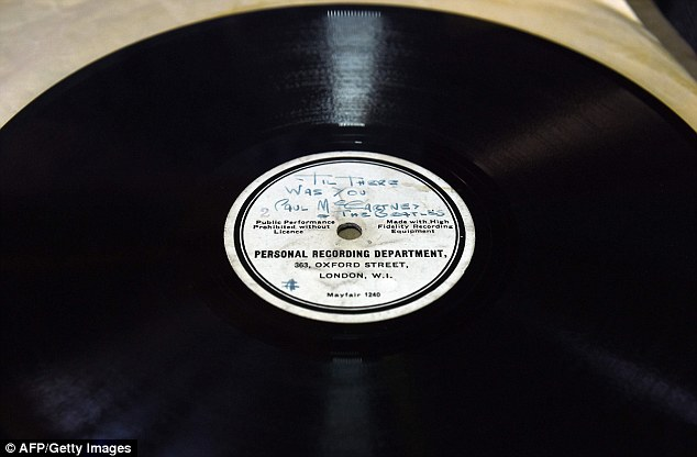 He misspells 'Hello Little Girl' as 'Hullo Little Girl' of theoriginal 10-inch 78RPM acetate recording of the single and of 'Till There Was You'