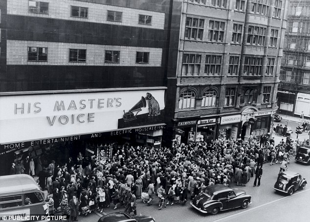 The world-famous HMV in Oxford Street was regularly a hive of activity as music fans scrambled for the latest records