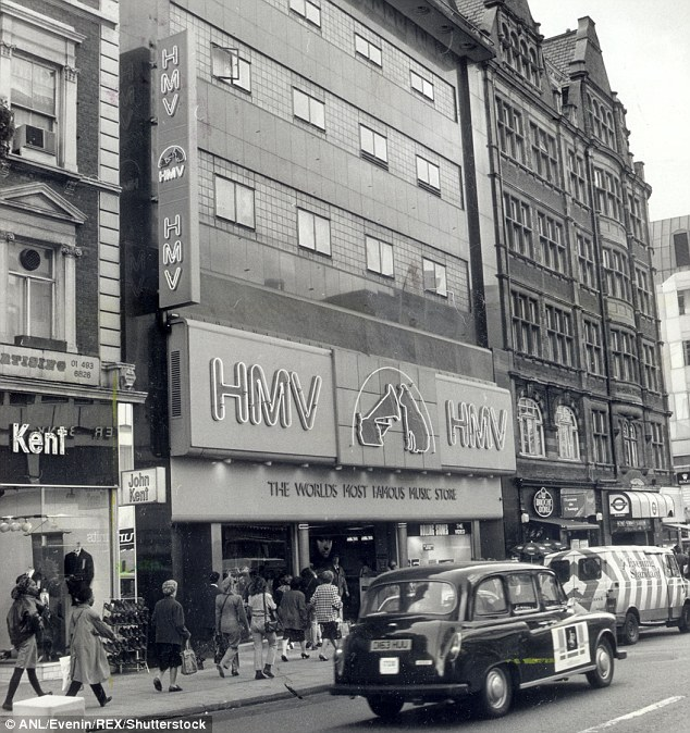 The famous HMV store in London's Oxford Street, where the unique 10-inch record was pressed