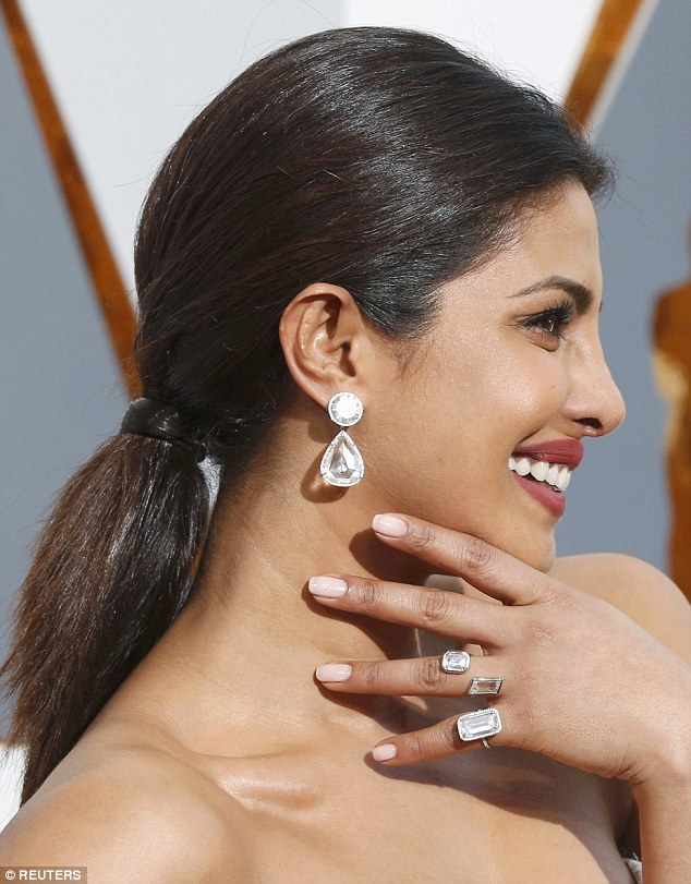 At just under $8 million was Priyanka Chopra's selection of jewels, which included50 carat diamond front back earrings that cost an incredible $3.2 million