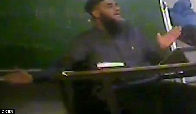 An imam in Denmark has sparked outrage after being caught on camera preaching that women who commit adultery should be stoned to death.Abu Bilal Ismail (pictured) was secretly filmed while giving a lecture
