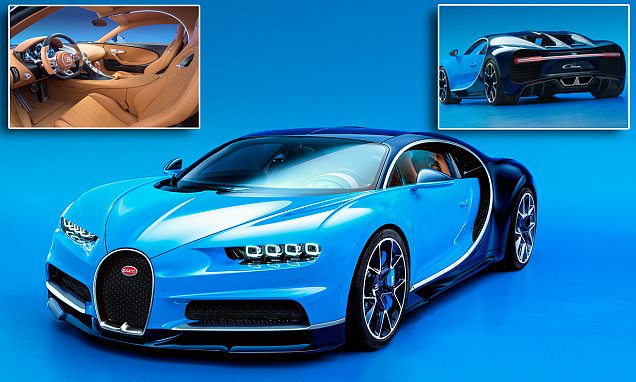 Bugatti's Veyron replacement is the 261mph Chiron that can do 0-62mph in 2.5 seconds