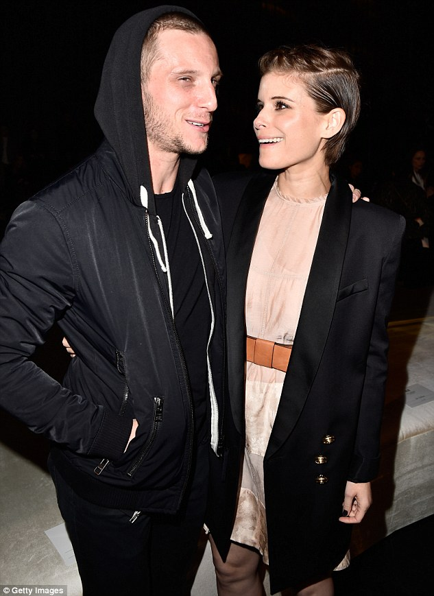 Cute couple: Stepping out for the event, the 33-year-old actress pulled out all the sartorial stops with her longline blazer and breezy summer dress combo as she met her boyfriend Jamie Bell on arrival