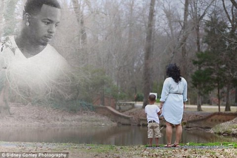 Nicole, who is expecting a baby girl, hopes the photos will be memories for both her children