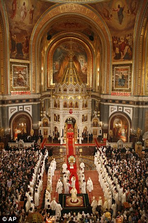 The Christ the Savior Cathedral in Moscow, part of the main Russian Orthodox Church