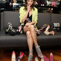 Lime Sofa Uk Cowhide Pillows Jamie Chung Showcases Her Cleavage At Saks Off 5th Store ...