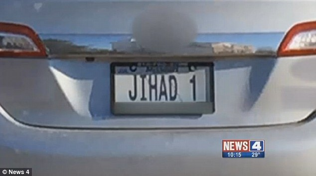 A personalized license plate that reads 'JIHAD 1' (pictured) has been allowed in the state of Missouri