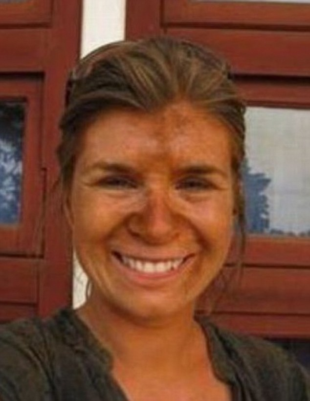 A bit patchy: Always take note not to build up your tan in one area, like this woman has done around her nose