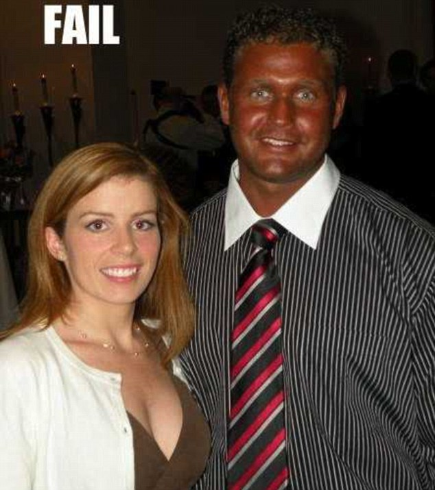 This man's skin has a distinctive mahogany hue, while his friend is a reassuringly normal colour