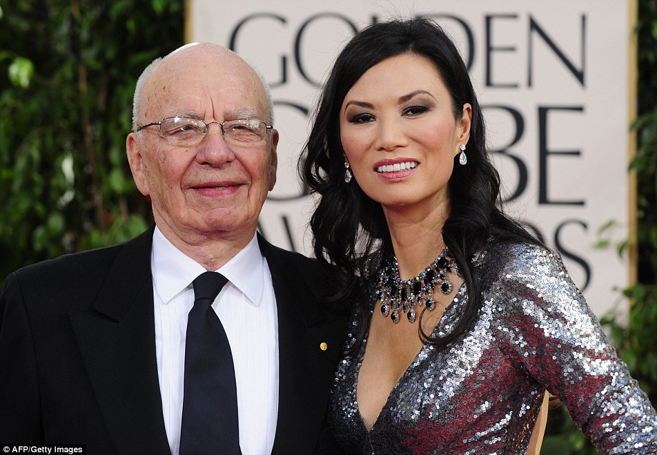 Murdoch and Wendi Deng split in 2013 and he remained single until news of his relationship to former model Jerry Hall – 25 years his junior - was announced last year