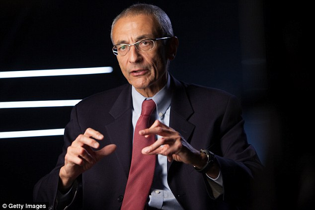 Believer: John Podesta (pictured) is Hillary Clinton's campaign manager, and says that he has convinced her to look into the area if she becomes President. He has demanded declassified UFO documents for decades