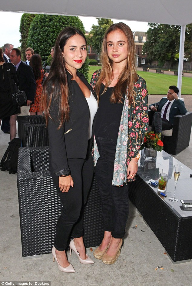 Ellie Smith (L) and Lady Amelia Windsor attends the drinks reception hosted by Dockers, the San Francisco based apparel brand in 2014