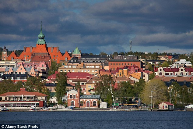 No-go area: Police in Östersund (pictured) have asked women and children not to go out alone after dark, after reports of six brutal attacks by 'men of foreign appearance' in just over two weeks