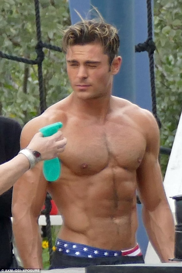 Image result for zac efron shirtless