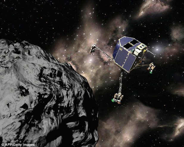 Computer-generated image shows Rosetta, the billion-dollar comet-chasing-spacecraft, that was launched by Esa in 2004 and arrived at the comet Churi in 2014. Results from its Rosina instrument have shown ice on the comet is as old as the solar system, answering questions about when comets first formed