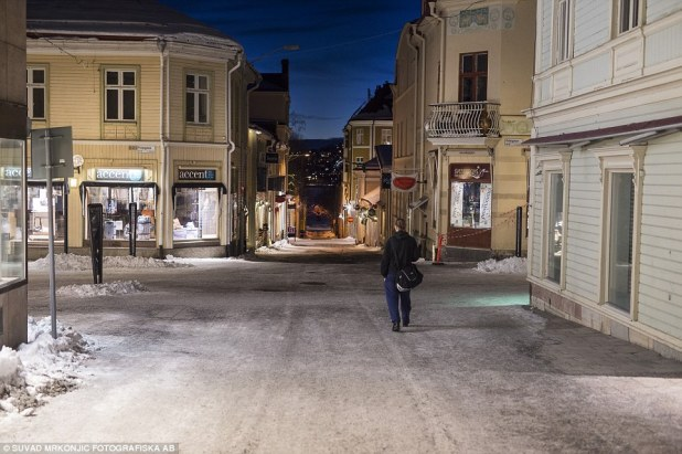 Deserted: The police's dire warning has turned the city into a virtual ghost town at night (pictured) and left women terrified that the situation is now 'out of hand'