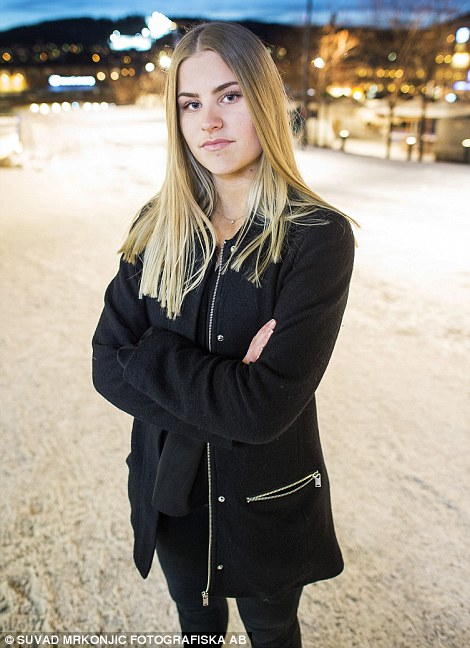 Given the police warnings, Lovis Jonsson (pictured), 16, vowed to never go out alone after dark