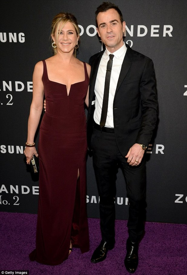 'We make each other laugh': Jennifer credits her funny husband Justin Theroux for keeping her young, and gushed about their 'normal and fun' married life together. They are pictured here last month