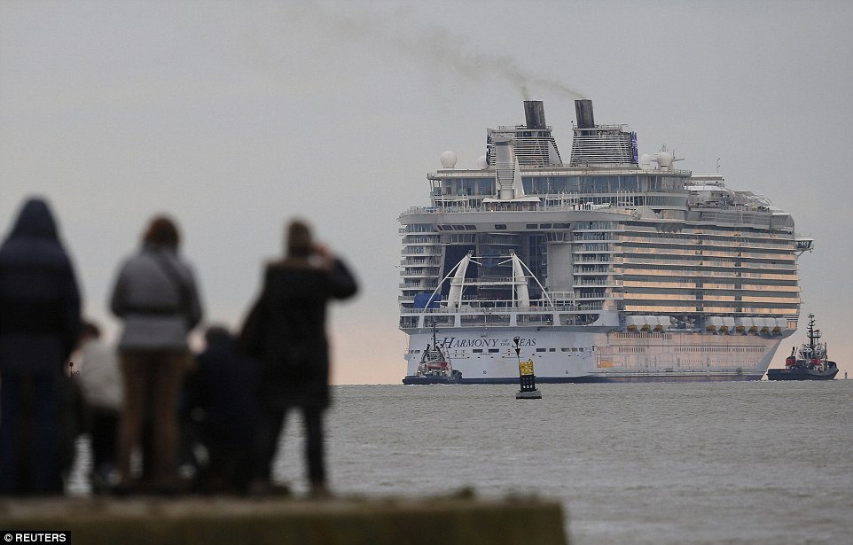 cruise ship diagram level 0 dfd for library management system world s largest harmony of the seas leaves port even when it was miles away from western france 210 feet tall with