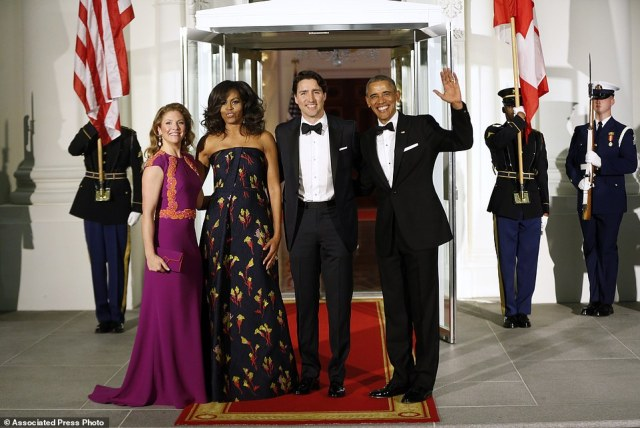 It's about time, eh? The first state dinner of Obama's final year honors Canada and its dashing new liberal leader – the first for America's northern neighbor by the White in nearly 20 years