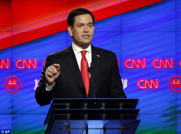 Marco Rubio (pictured), Florida's junior senator, received the night's largest ovation when he was introduced