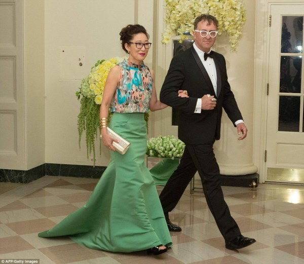 Michelle Obama Wears Jason Wu Gown Canada State Dinner Daily Mail Online
