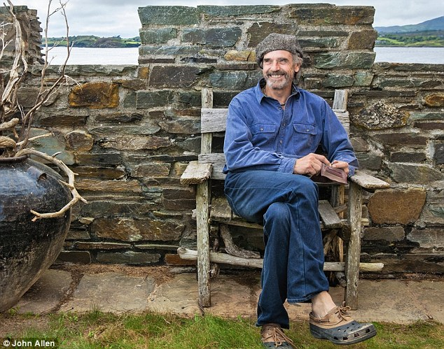 Despite having earned his fame and fortune in Hollywood Jeremy Irons (pictured in his Irish castle) says he is firmly rooted to England and Ireland and says Europeans are incredibly lucky to be in Europe