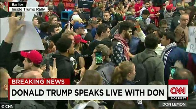 Multiple law enforcement sources told DailyMail.com there was a credible threat against Trump from groups of protesters who planned to storm the stage