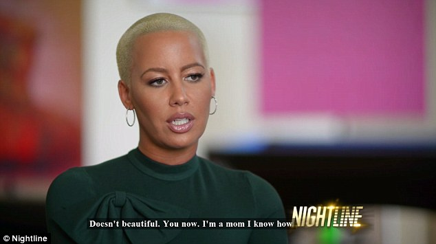 A pal: Amber Rose has already stood up for Kim Kardashian's nude selfie earlier this week. And again the model was in the Keeping Up With The Kardashian star's corner when she spoke about the selfie controversy on Nightline