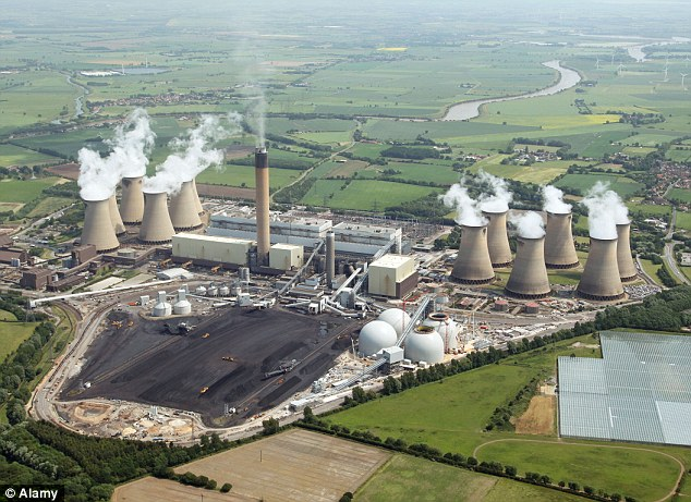 Dirty business: The cases of Hinkley Point nuclear power plant and the Drax coal and wood burning plant (pictured) between them demonstrate the extraordinary mess we are in
