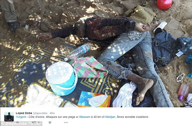 One of the victims from the shocking attack in Bassam, where gunmen opened fire on the beach