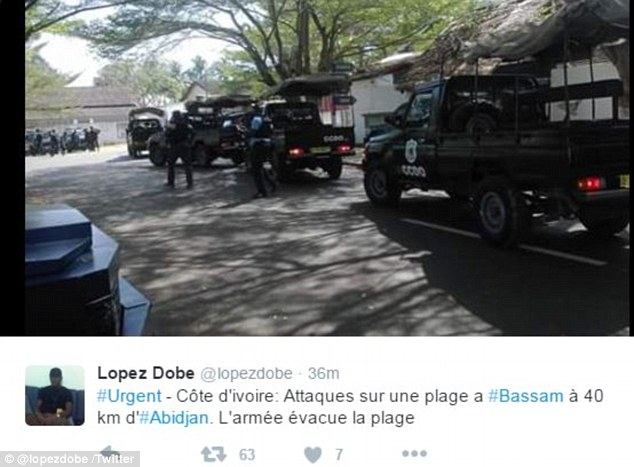 Ivorian special forces race to the scene of the devastating attack in the town of Grand Bassam