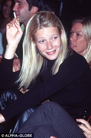 But Paltrow admits to her bad habit: 'My one light American Spirit that I smoke once a week, on Saturday night.'