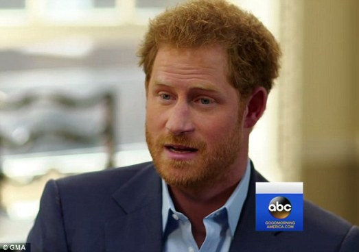 Prince Harry revealed the poignant moment that 'broke him' in a television interview on Thursday - when he was withdrawn from the front line during his first tour of duty in Afghanistan in early 2008