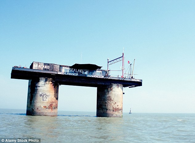 Sealand is a disused Second World War platform located in international waters six miles off the eastern shores of Britain