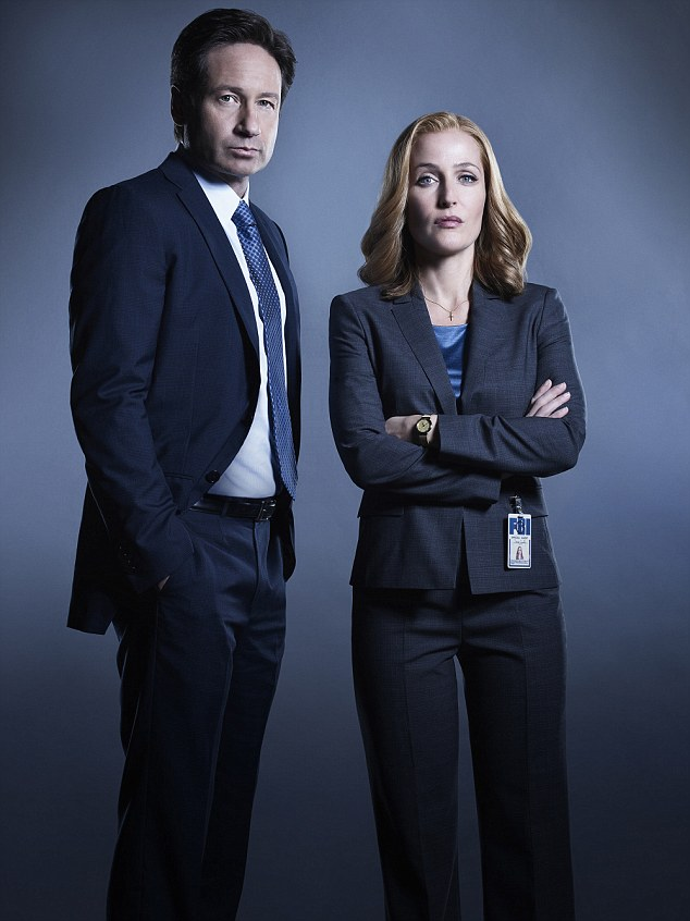 His inspiration? Duchovny as FBI Special Agent Fox Mulder and Gillian Anderson as FBI Special Agent Dana Scully on The X-Files