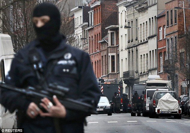 Raid: Abdeslam has now been wounded and captured in a fresh raid conducted by police this afternoon