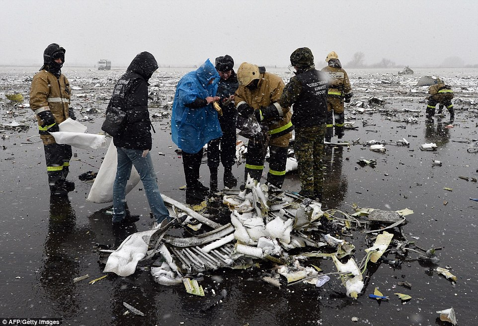 Shocking photographs taken of the scene on Saturday morning showed how the plane had been obliterated in the crash