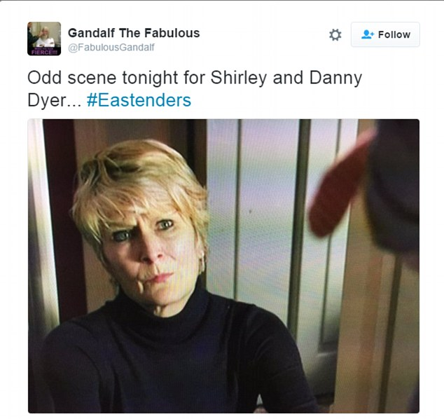 Don't look now! Adding further cringe factor is the fact that the two actors play mother and son in the long-running TV programme