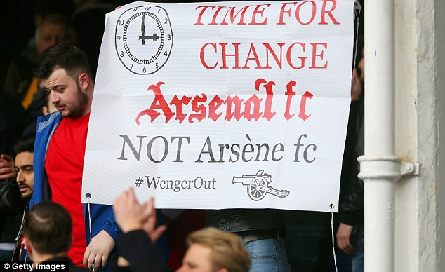 Image result for Arsenal fans angry against Arsene wenger