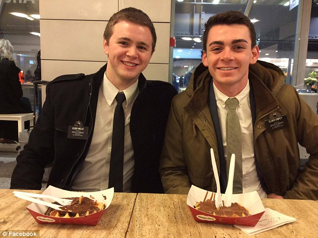 Mason (pictured, left)suffered a ruptured Achilles tendon, injuries from shrapnel and second- and third-degree burns on his face and hands after the bombing, but is expected to recover and is in good spirits