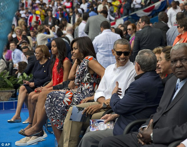 Republicans are criticizing Obama for staying in Cuba in the wake of the terrorist attacks in Belgium and going about his day as planned.That included a baseball game with his family and Cuban dictator Raul Castro
