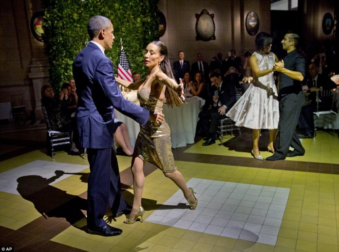 Ted Cruz, Donald Trump, John Kasich and even former New York mayor Rudy Giuliani have all lined up to blast Obama's response to the terror attacks after he was pictured at a baseball game yesterday, and dancing the tango Wednesday evening