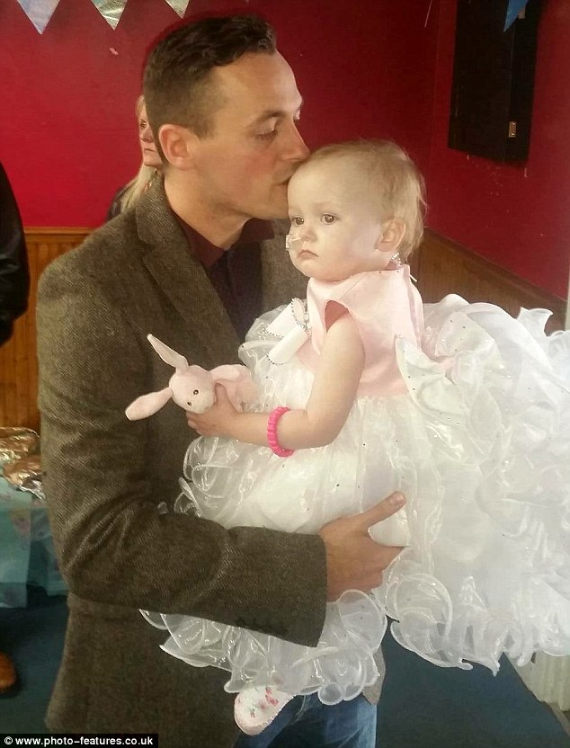 Andy Barnard, 31, got married to his daughter Poppy-Mai after she was diagnosed with terminal cancer because he promised she would have a 'dream wedding'