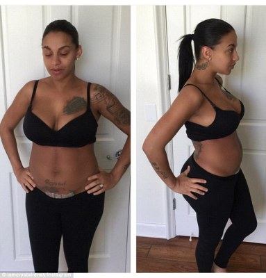 'My body isn't what it once was but that's ok' Crystal Renay shared a body positive message as she showed off her figure one week after C-section to deliver sonShaffer Chimere Smith Jr
