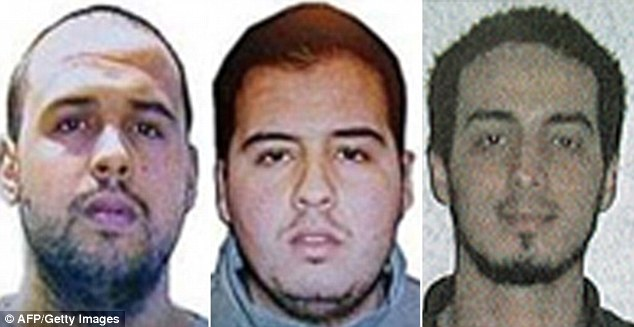 Suicide bombers Khalid El Bakraoui, Ibrahim El Bakraoui and Najim Laachraoui who blew themselves up in the Brussels attacks